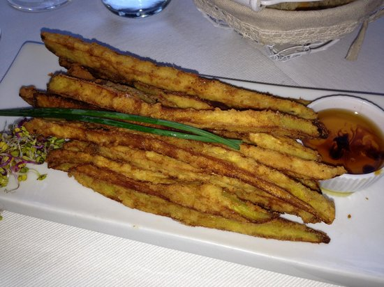 Restaurante Estrellas de San Nicolas: Fried eggplants