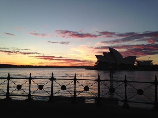 Park Hyatt Sydney: Sun rise from outside the hotel.