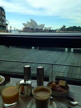 Park Hyatt Sydney: View while having breakfast.