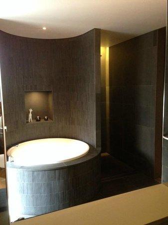 QT Sydney : Japenese Bath - Bathroom through open mirror