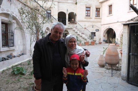 With Orec, the owner of Caravanserai Cave Hotel