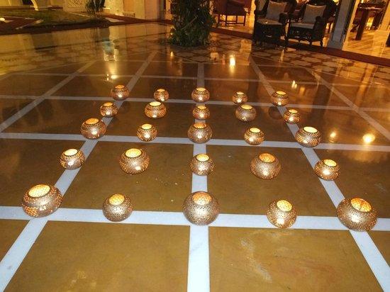 Taj Lake Palace Udaipur: night candle arrangement