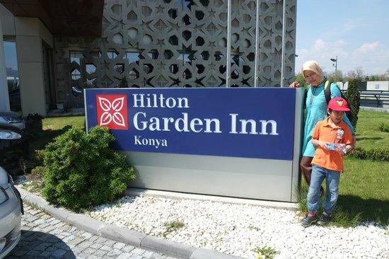 Hilton Garden Inn Konya: In front of the hotel.