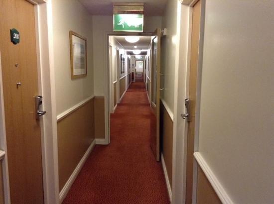 The Bridge Hotel: Corridor view.