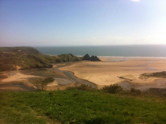 Three Cliffs Bay Holiday Park: the view