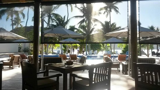 Paradise Cove Resort : View over breakfast - morning yoga