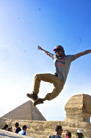 Egypt Day Tours : Jump for joy