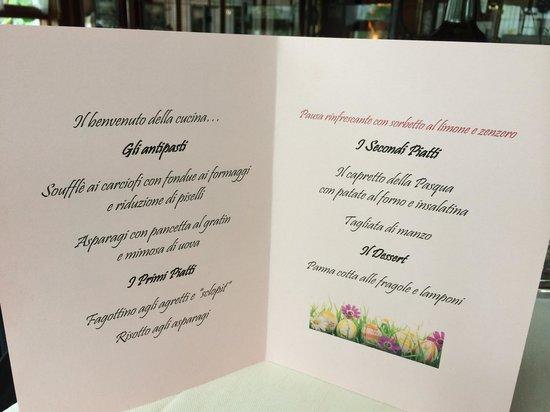 Ristorante Al Fogolar : Ecco il menù di Pasqua 2014 presso il Fogolar di Gorizia