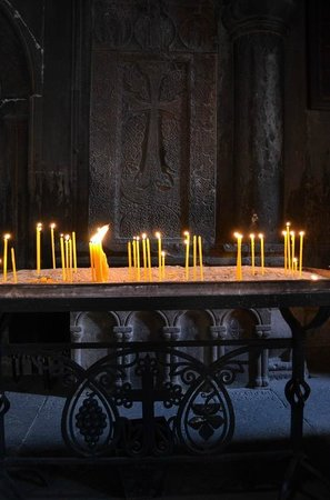 The Monastery of Geghard: Candles