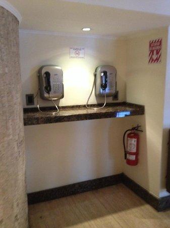 Shelter Suites: Telefonos en recepcion