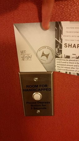 Home2 Suites by Hilton Lexington Park Patuxent River Nas, Md : Handicap label-although I did not want a handicap room