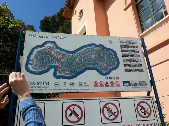 Island of Lokrum : Carte de Lokrum
