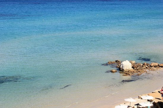 Crystal clear waters at Sani Beach Hotel