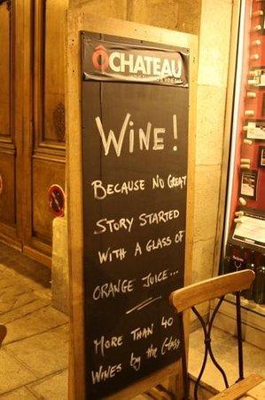O Chateau - Wine Tasting: Love it!