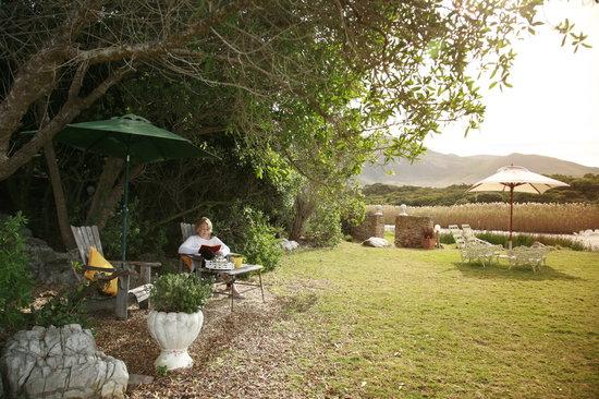 Kennedys Beach Villa: Peaceful garden at Kennedys overlooking Onrus Beach & Lagoon