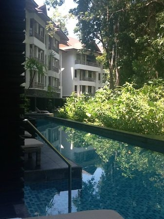 The Andaman, A Luxury Collection Resort : View from our private room's patio into the shared pool.