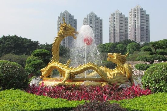 Splendid China Park: The Lively Double Dragon Water Fountain