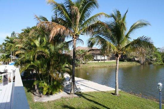 Marco Island Lakeside Inn: Aussicht von der Veranda auf den kleinen See