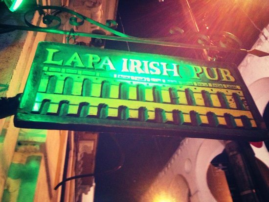 45b149c3ca Lapa Irish Pub  The Entrance in Front of the Famous Lapa Arches
