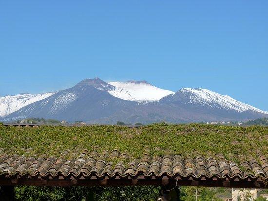 Etna Hotel: vue de notre chambre sur l' Etna