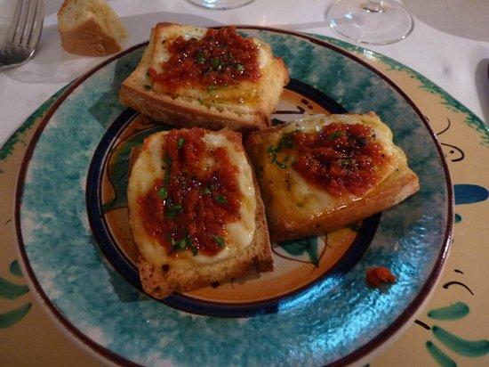 Etna Hotel: les fameux bruschettas