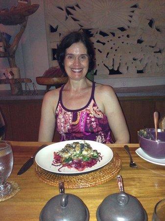 Floating Leaf Eco-Luxury Retreat: Organic Salad prepared with love by Putu