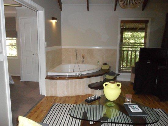 Narrows Escape Rainforest Retreat : Hot tub