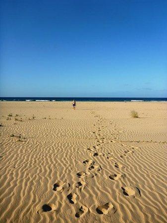 Barra Beach Club: The beach... with james bond on it, oh, no wait, thats me.