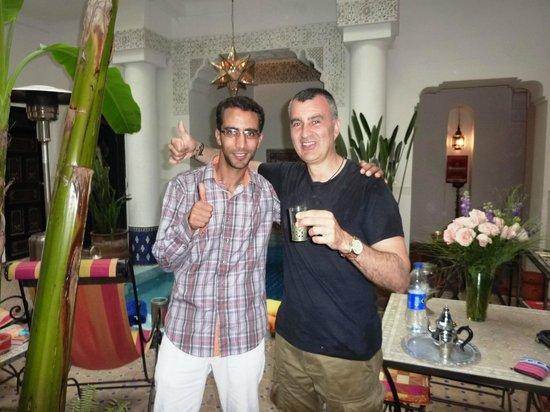 Riad Aloes: con Mustafa