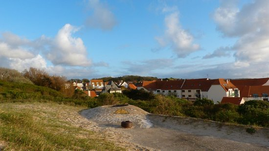 Maison Blanc Nez : Blick auf Wissant von der nördlichen Düne (Bunker)