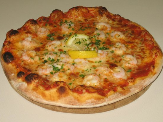Bits and Pizzas : cold water prawns with garlic