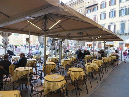 Caffe Rivoire : Terrasse