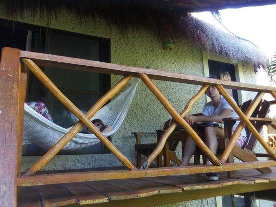 Na Balam Beach Hotel : hamac chambre
