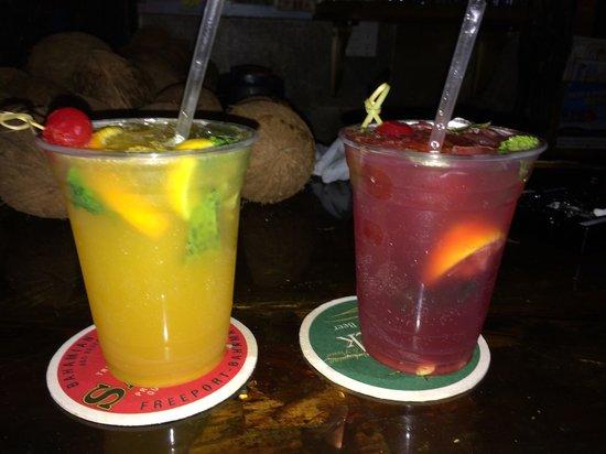 Rum Runners: Deliciousness in a cup - mango mojito and strawberry mojito.