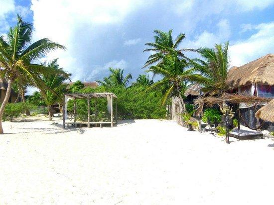 Om Tulum Hotel Cabanas and Beach Club: plage
