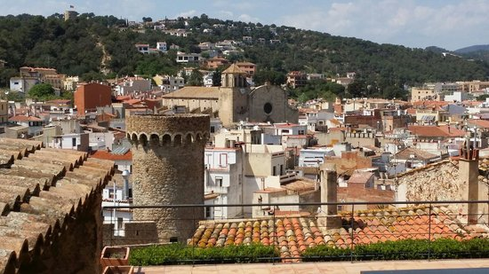 Vila Vella (Old Town): View from the old town looking out towards the parish church of sant vicenc