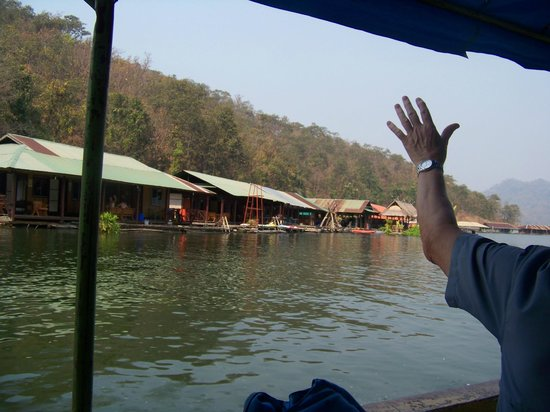 The Mae Ngat Dam & Reservoir: Arriving at our houseboat