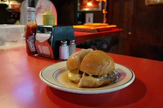 Famous Fat Dave's Food Tours: Double Dipped Burger