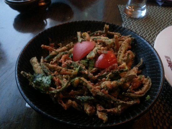 Vedas Indian Restaurant (Changshu Road) : crispy okra