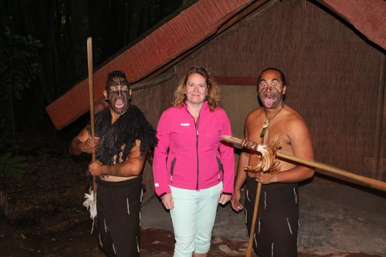Village maori de Tamaki : Krijgers