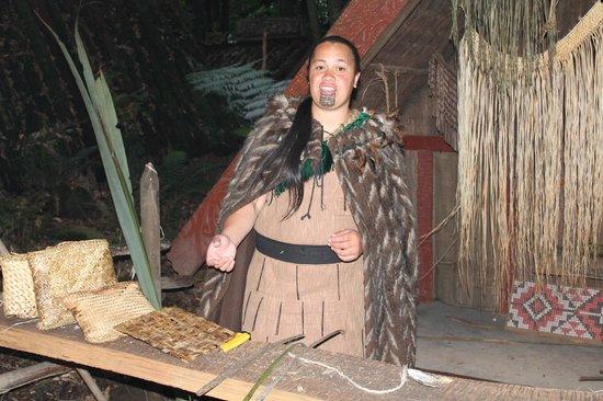 Village maori de Tamaki : Weven uitleg