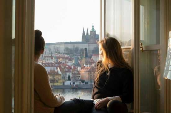 Bohemia Apartments Prague Old Town: Sat on window pane, looking out at amazing view