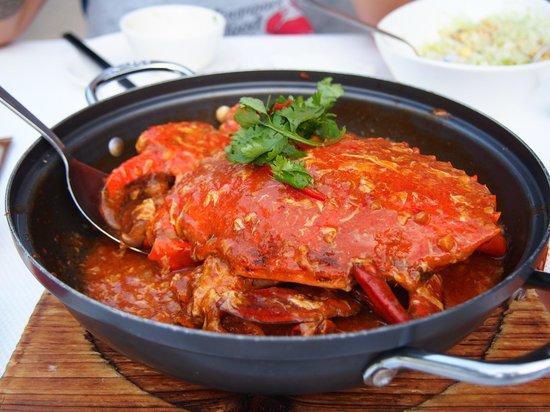 Hard Rock Hotel Singapore : Chilli Crab at the Seafood Republic restaurant