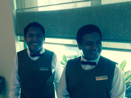 Secrets Silversands Riviera Cancun : Hugo and Felipe at the World Cafe. First class service, and they are great guys.