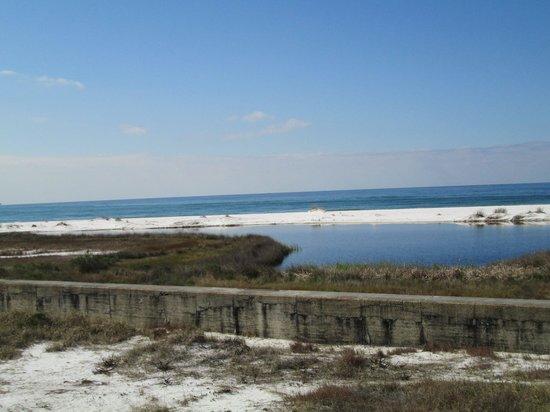 Beach around Fort Pickens