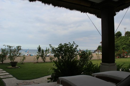 Palm Garden Amed Beach & Spa Resort: Blick von Oceanfront Bungalow Nr. 10