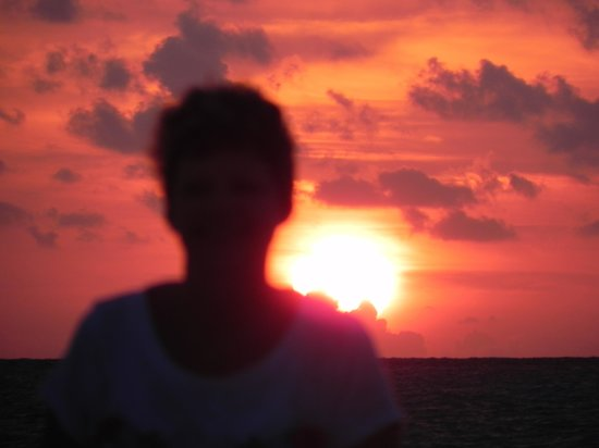 Hotel Riu Playacar : sunset on beach