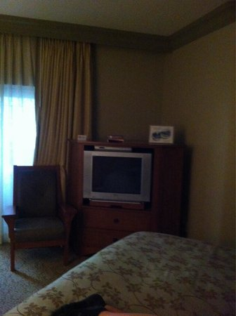 Avila Village Inn: TV and DVD player...DVDs available for loan from front desk