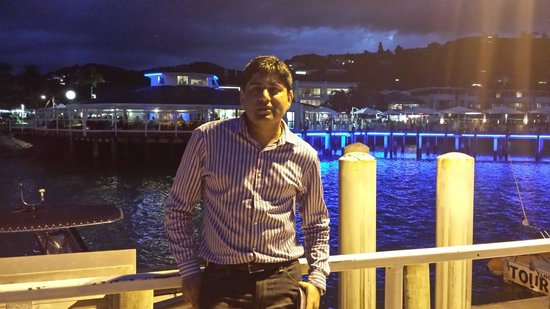 Paihia Harbour: Night view.