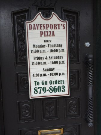 Davenport's Pizza Palace: First time I did this, but I know I'm returning!